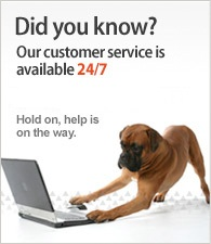 Our customer service is available Monday - Saturday (9.30am - 4.30pm). Call us at (03) 8555 9433.